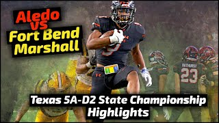 Aledo vs Fort Bend Marshall - 2018 Football Highlights