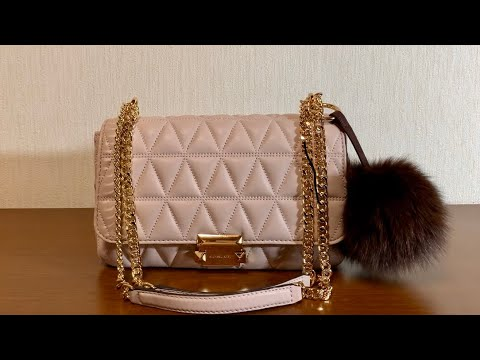 MICHAEL KORS Bag Review💓Sloan Large Quilted Leather Shoulder Bag