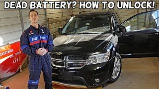 HOW TO UNLOCK DODGE JOURNEY WITH DEAD BATTERY FIAT FREEMONT