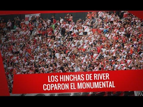 """""""Los hinchas de River coparon el Monumental"""" Barra: Los Borrachos del Tablón • Club: River Plate"""