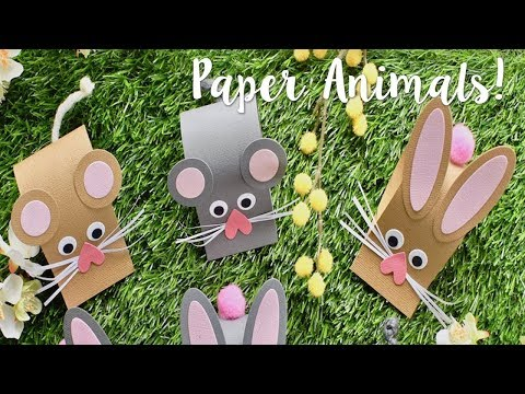 Paper Animals with Katie Skilton! Summer Holiday Crafts - Sizzix