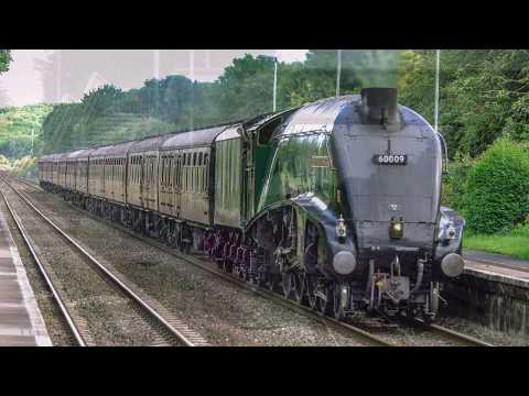 60009 'Union Of South Africa' races through Bruton with 'The…