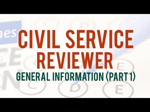 CIVIL SERVICE REVIEWER 2021 | GENERAL INFORMATION ...