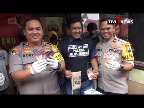 JOMBANG - Polisi Ciduk Tiga Pelaku Judi Pilkades