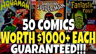 50 Comic Books Worth $1000 or More GUARANTEED!!! - Do You Have These Comics ?