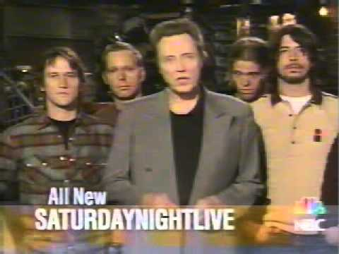 Christopher Walken introducing Foo FIghters on Saturday Night Live