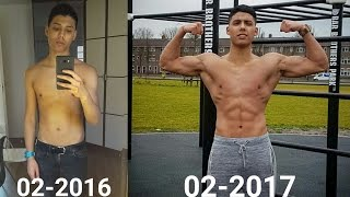 Incredible 1 Year Body Transformation (Only Calisthenics) Bar Brothers The Hague