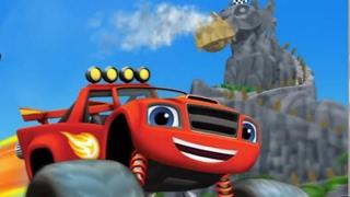 вспыш и чудо машинки Супер гонки машинок на острове дракона Мультик Игрушки для детей #Blaze #вспыш