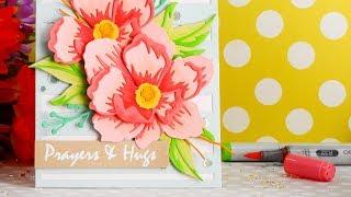 Layered Die Cut Flower Arrangement + Altenew's January Release