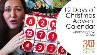 12 Days of Christmas Advent Calendar with Cricut