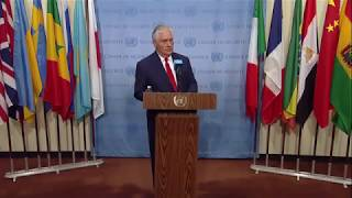 Rex Tillerson on Non-Proliferation/DPRK - Media Stakeout (15 December 2017)