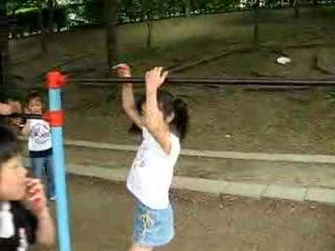 公園で小学3年生に対抗。