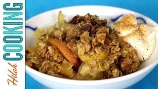 How to make Apple Crisp | Hilah Cooking