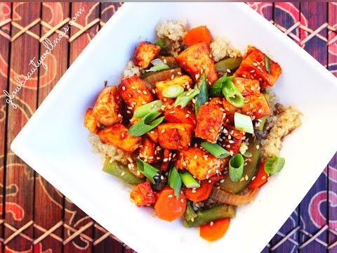 FAT LOSS Healthy Recipe - Honey Sriracha Tofu w/ Vegetables