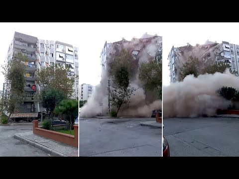 Turkey Earthquake Causes Building Collapse