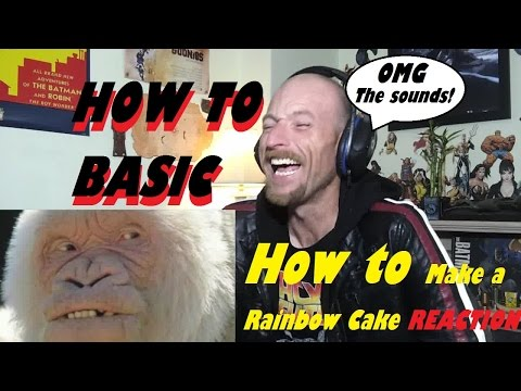 How To Make A Rainbow Cake -Reaction