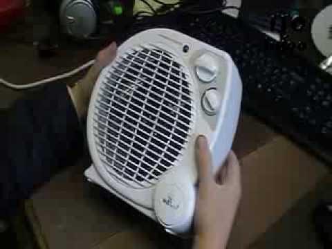 Простой ремонт тепловентилятора.