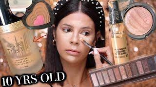 FULL FACE USING THE OLDEST MAKEUP I OWN!! 10 YEARS EXPIRED!!
