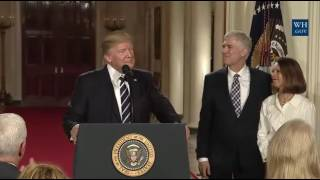 President Trump Nominates Judge Neil Gorsuch to Supreme Court
