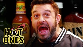 Adam Richman Fanboys Out While Eating Spicy Wings | Hot Ones