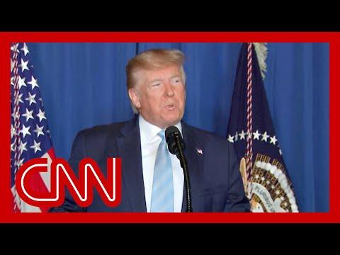 Trump speaks after o