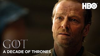 A Decade of Game of Thrones | Iain Glen on Jorah Mormont (HBO)