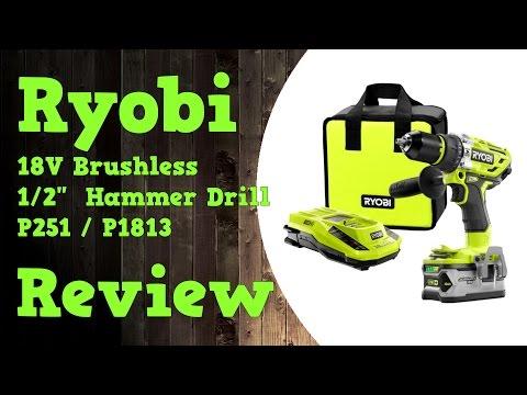 Ryobi 18V Brushless Hammer Drill P251 / P1813 Review In 4k