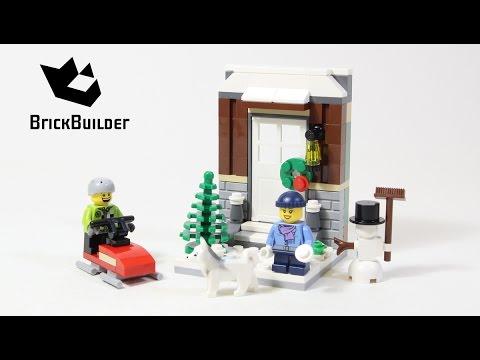 Vidéo LEGO Saisonnier 40124 : Scène hivernale