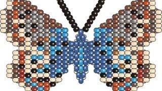 Смотреть онлайн Как из бисера сплести бабочку
