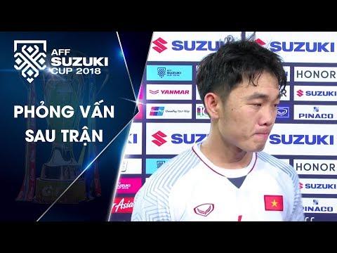 Xuân Trường - Quang Hải hài lòng với chiến thắng của ĐTVN trong ngày ra quân