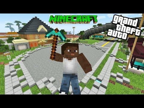 CJ İLE MINECRAFT TA HAYATTA KALMAK ! GTA SAN ANDREAS Minecraft Bölüm 1