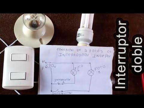 Cómo conectar dos focos con interruptor doble