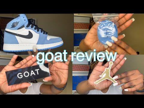GOAT REVIEW: Shipping , Prices , Shoe Quality , etc . ( Jordan 1s University Blue ) 2021