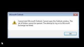 Outlook 2013 Error   Cannot Start Microsoft Outlook Cannot Open The Outlook Window