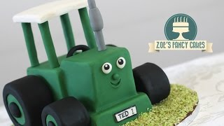 Tractor Ted Cake Tutorial : Tractor Birthday Cake