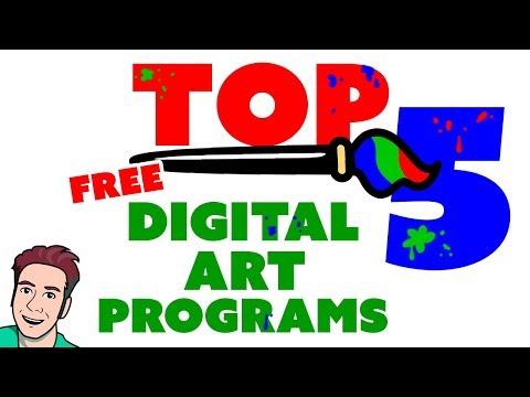 Top 5 Best FREE Digital Painting Software 🎨