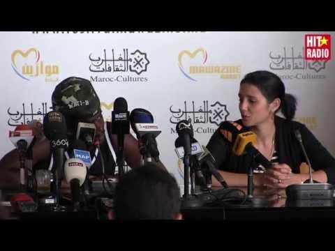 Conférence de presse avec Black M à Mawazine 2015 sur HIT RADIO
