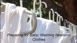 Preparing for Baby: Washing Newborn Clothes | 36 weeks pregnant