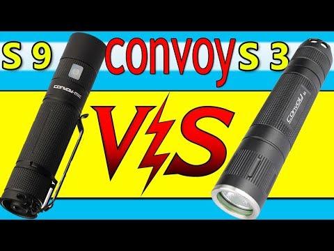 Фонарь Convoy MK-S9 и Convoy S3 Обзор + Тест  🔦⚡🔦