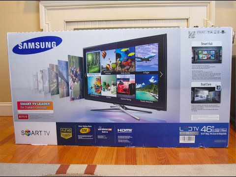 Unboxing & Setup: Samsung LED F5500 Series Smart TV 46""