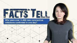 Why were over 14,800 new coronavirus infections confirmed in one day?