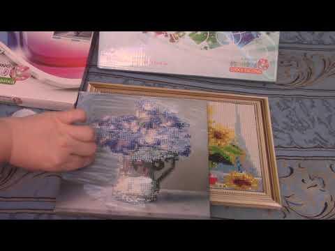Алмазная мозаика на подрамнике\Готовые две работы/Покрываем акриловым лаком\Что получилось в итоге?