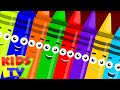 ten in the bed | crayons color song | learn colors | nursery rhyme | childrens rhymes