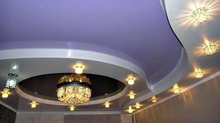 Двухуровневые натяжные потолки 005 от компании ЧТПУП «МегаЛайнСтиль» - видео