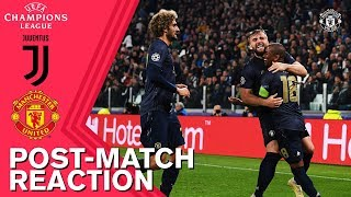 Mata, Shaw & Lingard Delighted with Victory in Turin | Juventus 1-2 Manchester United