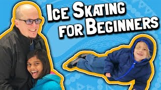 How to Ice Skate  // Lessons for Beginners // Kids First Time Learning Ice Skating