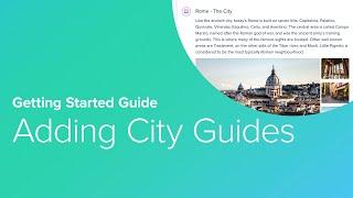 7. Adding City Guides