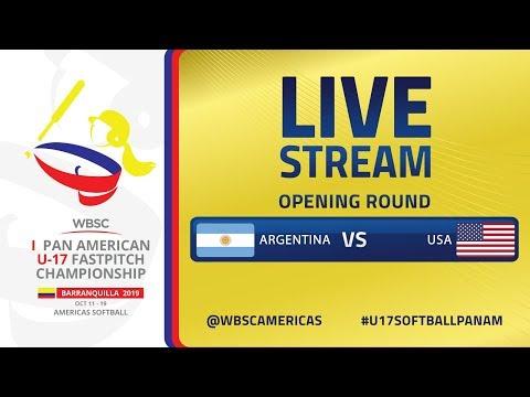 Argentina v USA - I U-17 Women's Softball Pan American Championship - Opening Round