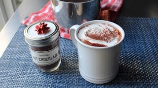 Homemade Instant Hot Chocolate Mix - Last Minute Edible Christmas Gift Idea!