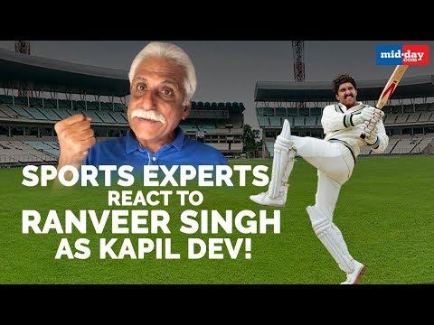 Sports experts react to Ranveer Singh as Kapil Dev!